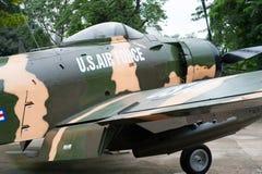 Avión americano en el museo los remanente de la guerra, Saigon Imagen de archivo libre de regalías