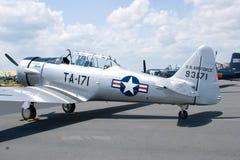 Avión blanco con las estrellas Foto de archivo libre de regalías