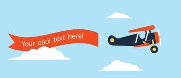 Avión-Cinta-plano Foto de archivo libre de regalías