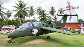 Avión con las ovejas Granja de las ovejas de Pattaya Imagenes de archivo