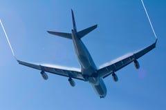Avión con vórtices del vórtice Fotos de archivo