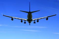 Avión de Airbus A340. Fotos de archivo