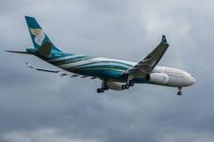 Avión de aire de Omán Fotos de archivo libres de regalías