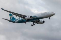 Avión de aire de Omán Imágenes de archivo libres de regalías