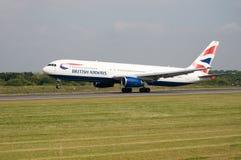 Avión de British Airways Imágenes de archivo libres de regalías