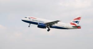 Avión de British Airways Fotografía de archivo libre de regalías