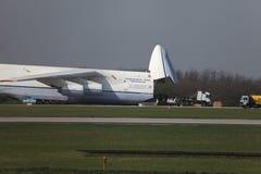 Avión de carga An-124 Imagen de archivo libre de regalías