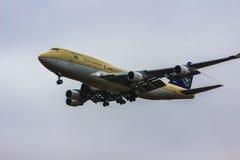 Avión de carga de Arabia Saudita Fotos de archivo libres de regalías