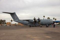 Avión de carga de los militares de Airbus A400M de la fuerza aérea de Oyal Foto de archivo libre de regalías