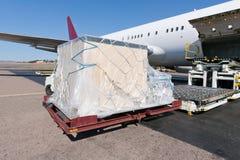 Avión de carga del cargamento Imagen de archivo libre de regalías