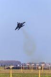 Avión de combate aking apagado Imagenes de archivo