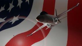 Avión de combate americano stock de ilustración