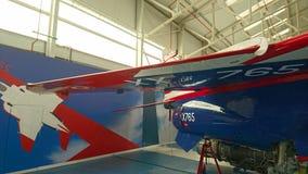 Avión de combate de Jaguar en la suspensión Imagen de archivo libre de regalías