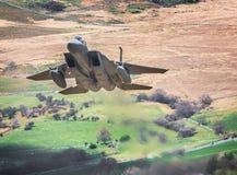 Avión de combate de los vorticies del extremo del ala imagen de archivo