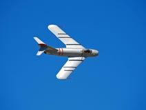 Avión de combate de plata clásico Imagen de archivo libre de regalías