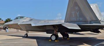 Avión de combate del rapaz F-22 Imagen de archivo libre de regalías