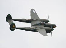 Avión de combate del relámpago P-38 Fotografía de archivo libre de regalías
