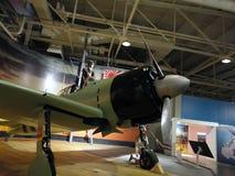 Avión de combate japonés en la exhibición Imagen de archivo libre de regalías