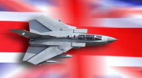 Avión de combate Reino Unido Imagen de archivo libre de regalías