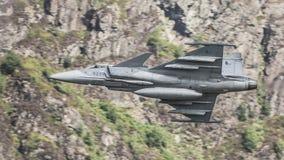 Avión de combate de Saab Gripen fotografía de archivo libre de regalías