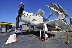 Avión de la guerra en la mitad del camino centraa imágenes de archivo libres de regalías