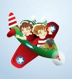 Avión de la Navidad Foto de archivo
