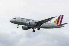 Avión de las líneas aéreas de Germanwings Foto de archivo