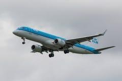 Avión de las líneas aéreas del Klm Fotos de archivo libres de regalías