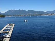 Avión de mar en el agua Foto de archivo libre de regalías