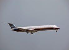 Avión de Mcdonell Douglas DC-9 (MD-80) Imagen de archivo libre de regalías