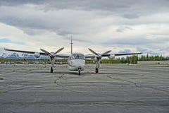 Avión de negocio gemelo del apoyo de turbo del motor Fotos de archivo libres de regalías
