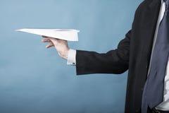 Avión de papel Fotografía de archivo libre de regalías