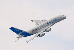 Avión de pasajeros de Airbus A380 Fotos de archivo