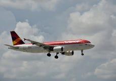 Avión de pasajeros de Avianca Imagen de archivo