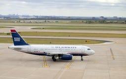 Avión de pasajeros de la línea aérea de US Airways Foto de archivo