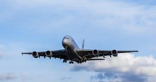 Avión de pasajeros de Malaysia Airlines Airbus A380 Fotos de archivo libres de regalías