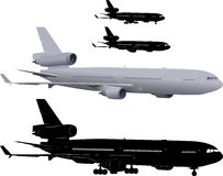 Avión de pasajeros del pasajero stock de ilustración