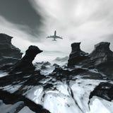 Avión de pasajeros del vuelo stock de ilustración
