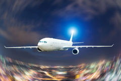 Avión de pasajeros grande Imagen de archivo