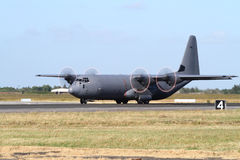 Avión de transporte de los militares de C-130 Hércules Fotos de archivo