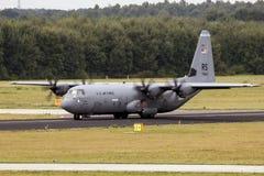 Avión de transporte de Lockheed C-130 Hércules de la fuerza aérea de Estados Unidos Imagen de archivo
