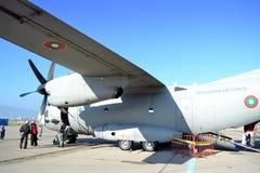 Avión de transporte militar espartano de C-27J Imagen de archivo libre de regalías