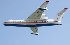 Avión del anfibio de Beriev Be-200 Imagen de archivo libre de regalías