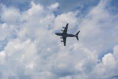 Avión del avión de pasajeros, mosca Foto de archivo
