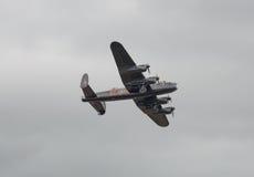 Avión del bombardero de Lancaster imágenes de archivo libres de regalías