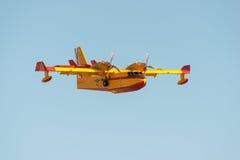 Avión del bombero Fotografía de archivo