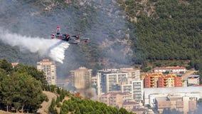 Avión del bombero Fotografía de archivo libre de regalías
