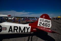 Avión del ejército Foto de archivo