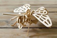 Avión del juguete del diseñador de piezas de madera Fotos de archivo