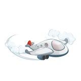 Avión en el cielo Imagen de archivo